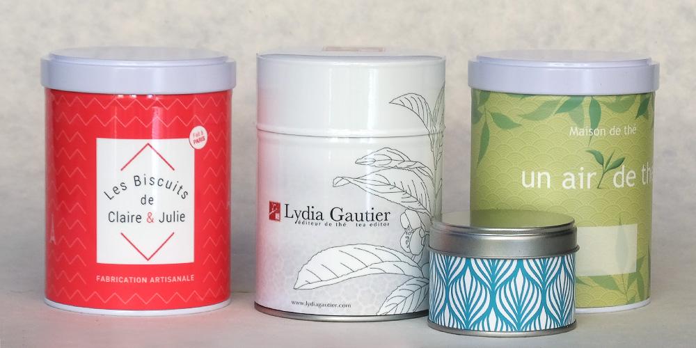 Boîtes à thé personnalisées