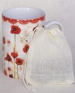 Filtre thé réutilisable coton