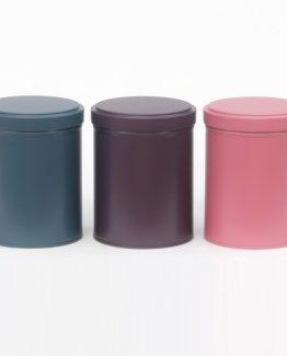 Boîtes à thé unies - double couvercle