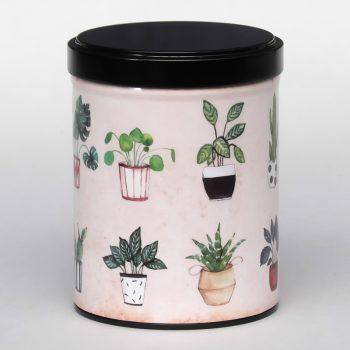 Tea tin Belles plantes