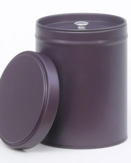 Plain color tea tins